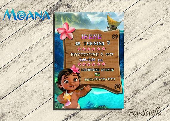 invitaciones de cumpleaños infantiles, invitacion gratis vaiana, invitacion vaiana