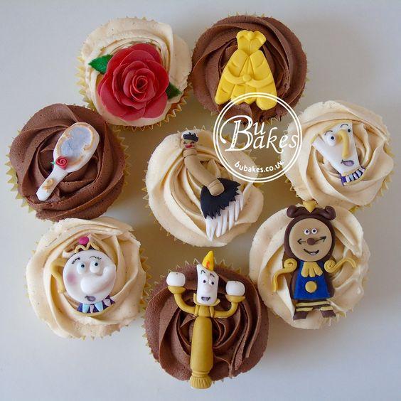 cupcake de princesa, repostería para cumpleaños, dulces para fiestas infantiles
