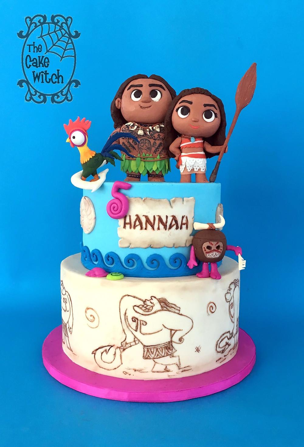 fiesta de vaiana, pasteles originales para fiestas, moana cake, fiesta de princesas, pasteles para cumpleaños, tarta de moana
