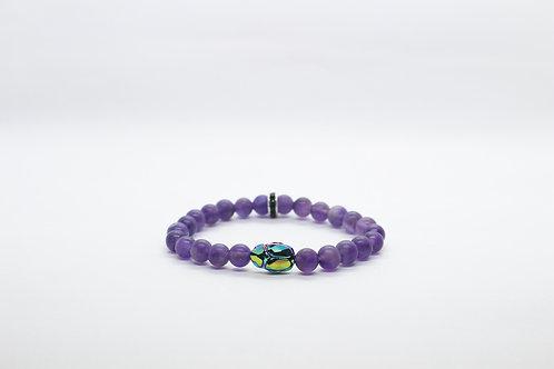 Purple Swarovski Scarab