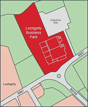 Site map of Lochgelly Business Park