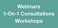 Webinars, 1-On-1 Consultations & Workshops