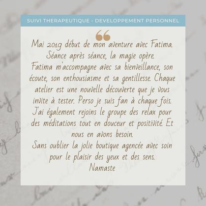 Suivi thérapeutique / Développement personnel