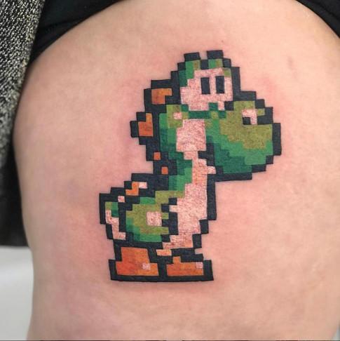 16-bit Yoshi Tattoo