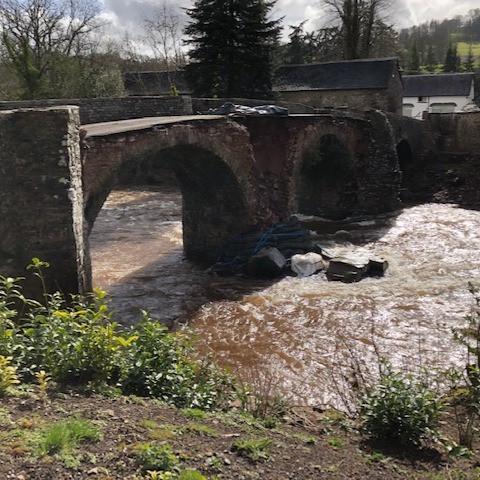 Flood damage to the Elizabethan bridge a