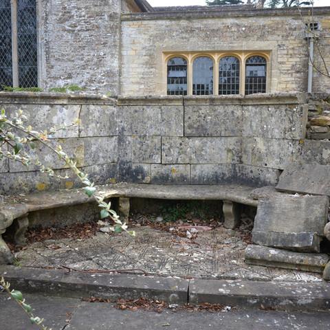 Badly damaged bench at Westonbirt_edited