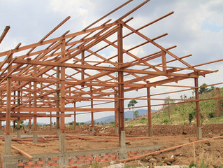 In Cambodia, the construction of Colstew School is making quick progresses!