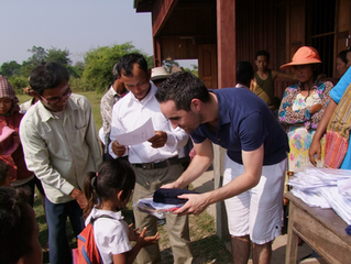 Seeds' first volunteer: Clement Gless went to Cambodia. Thanks for your help!