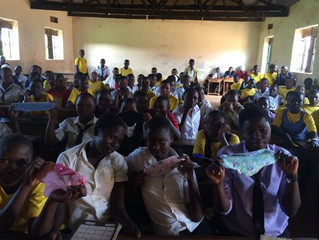 Sanitary pads project by Seeds' business tailoring centre