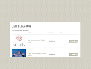 Two couples have already included Seeds in their wedding registries!