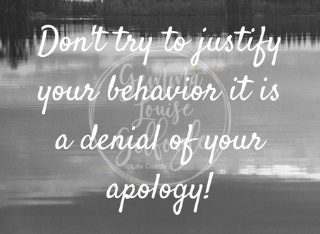 Saying Sorry!