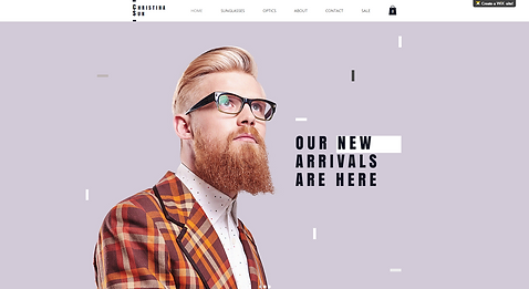 Eyewear eCommerce Website Template wix-eyewear