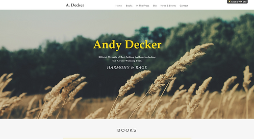 Template #: wix-author