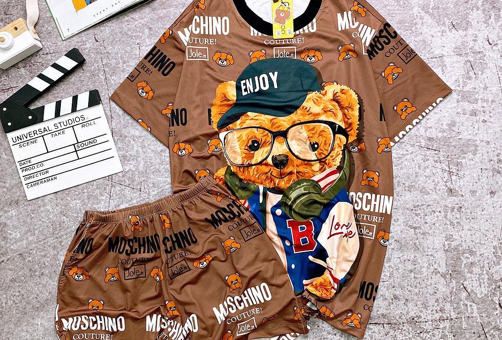 Moschino Teddy Bear 3D Fit Short PJ Set