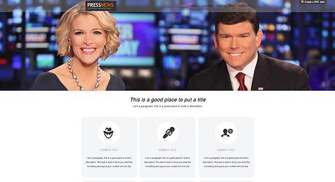 News Station Website Template