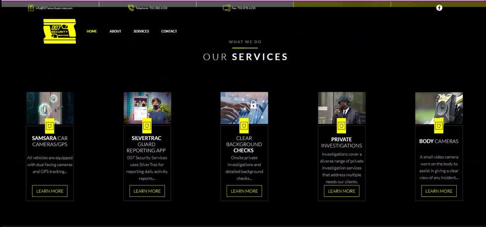 007 Security Website Design