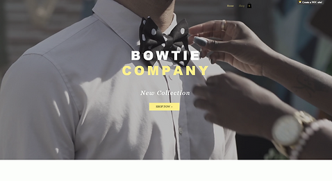 Apparel Accessories eCommerce Website Template wix-bowtie
