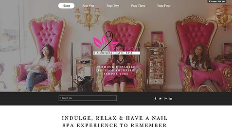 Nail Spa Salon Website Template