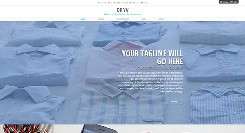 Laundry Delivery Service Website Template
