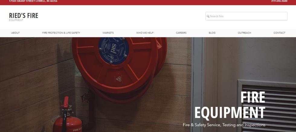 Fire Equipment Website Design