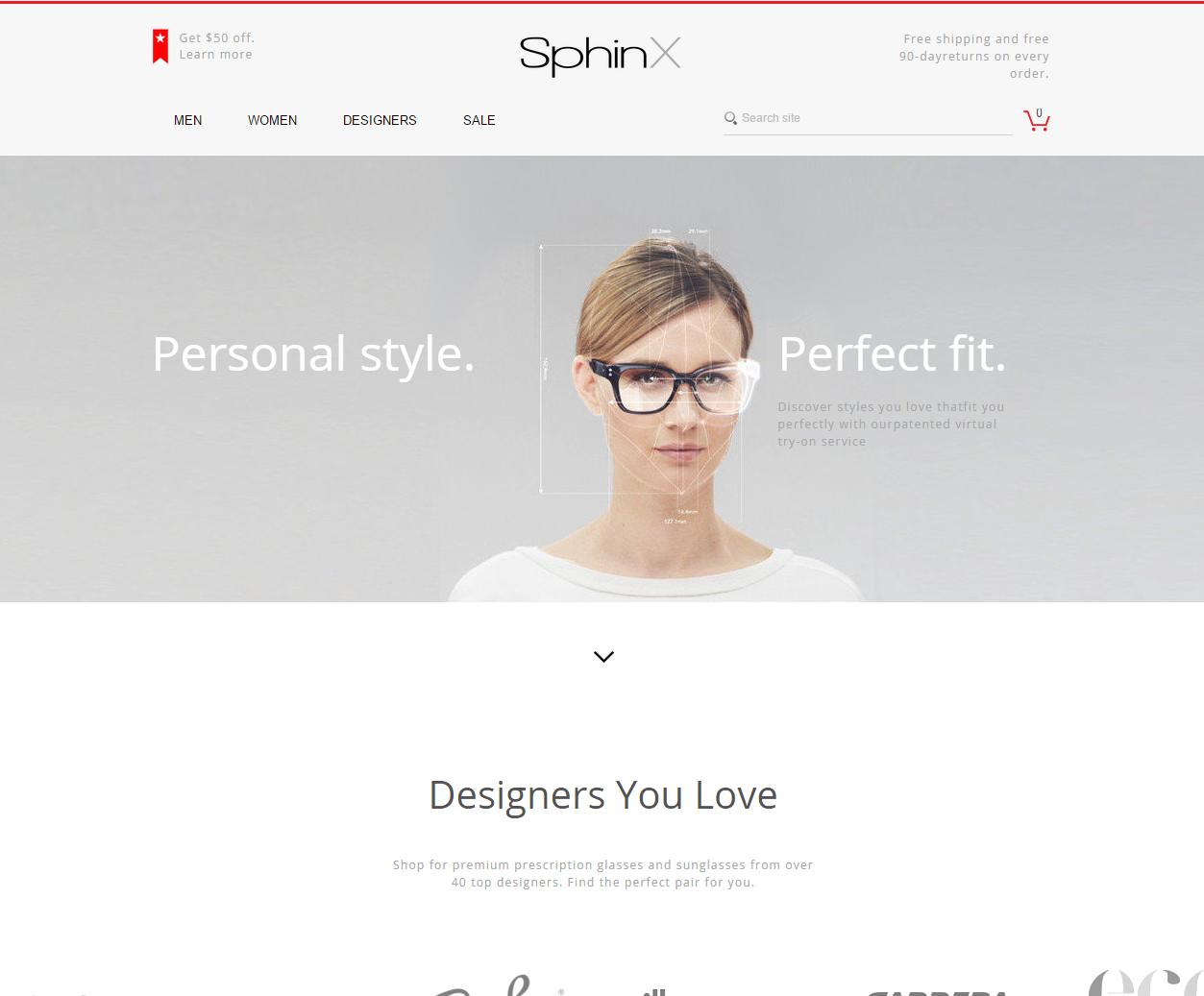 Eyeglasses eCommerce Website
