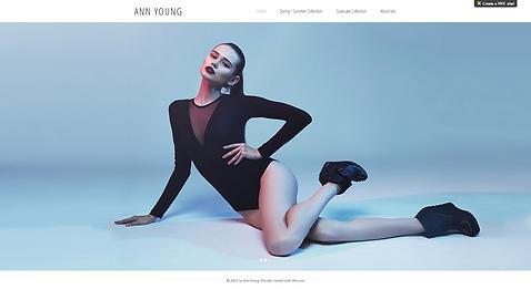 Modeling Website Template wix-minimalist