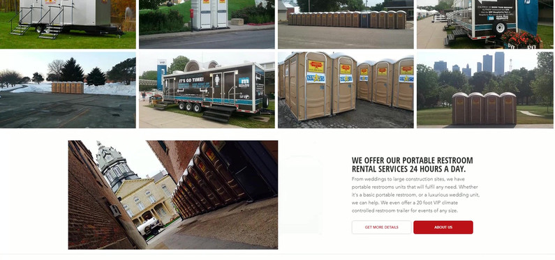 Portable Restrooms Website Design