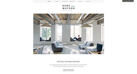 Interior Design Website Template wix-interior