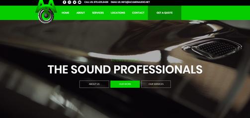 Acumen Audio Website