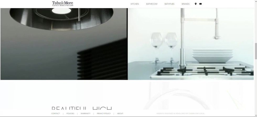 Tub Distributor Web design
