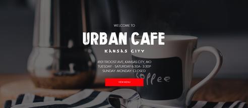 Urban Cafe Coffee Website Design