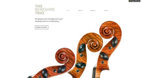 Muscian Website Template wix-classical