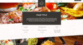Restaurant Website Template 155665