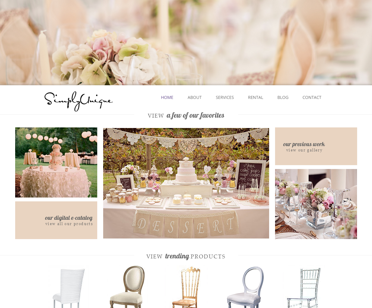 Wedding and Event Planner Website