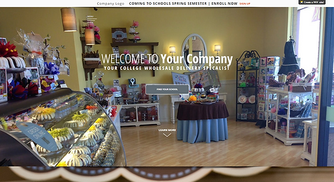 Pastry Cake Shop Website Template 225950