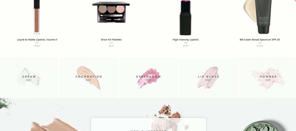 Beauty Product eCommerce Website