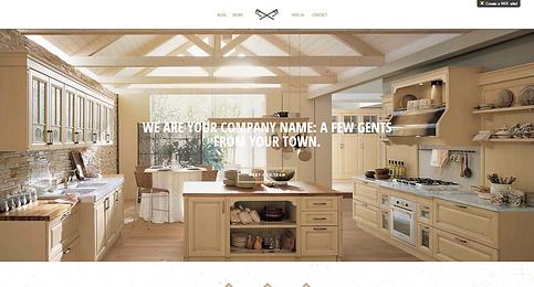 Kitchen design website Template 155480