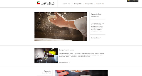 Italian Restaurant Website Template 155640