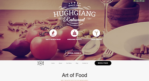 Kitchen design website template