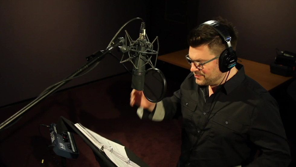 Behind the Scenes at the Cast Recording