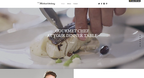 Chef Cook Website Template wix-chef