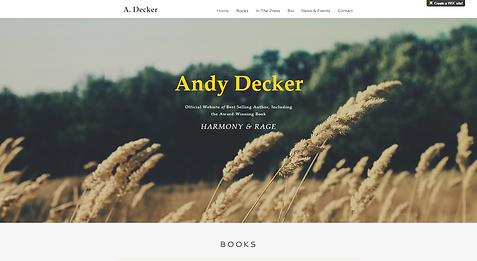 Books Author Website Template wix-author