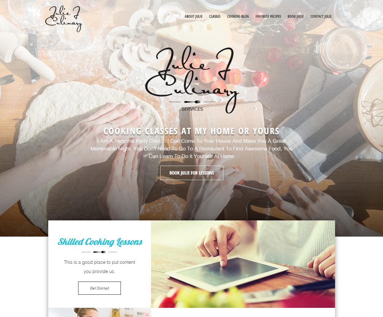 Cooking Classes Website