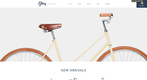 Template #: wix-bicycle