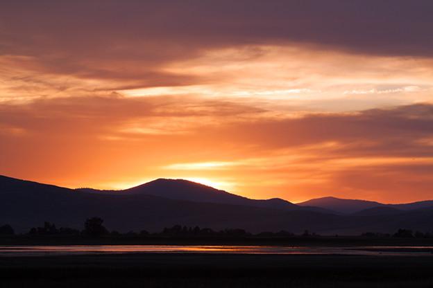 Ninepipe Sunset