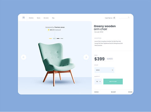 arm-chair-product-page-displayed-on-tablet