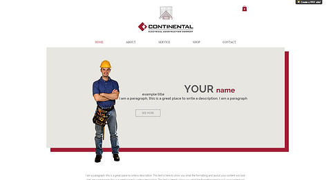 Construction Website Template 875855