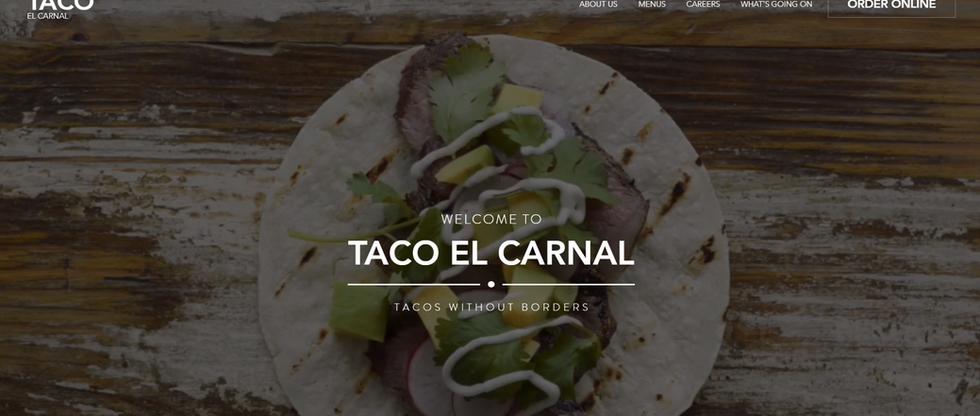 Tacos El Carnal Website
