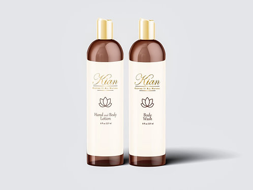 Body Wash and Body Lotion Combination