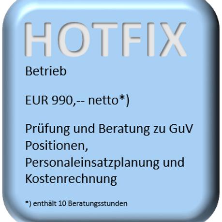 HOTFIX Betrieb
